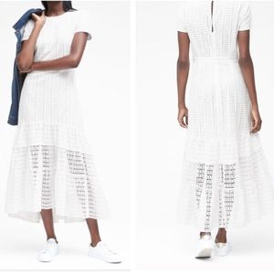 BANANA REPUBLIC || eyelet prairie midi dress 2